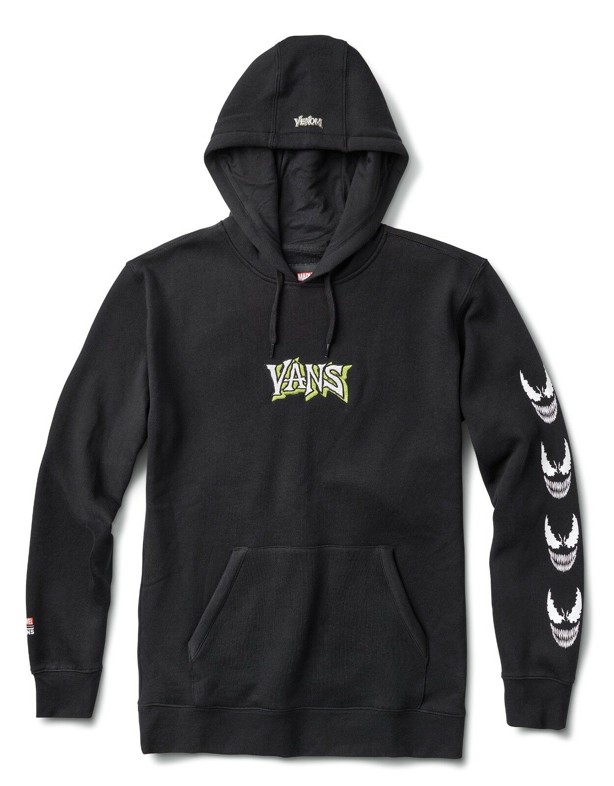 Herren Vans Off the Wall Marvel Venom Pullover Hoodie Sweatshirt Cold Weather NWT