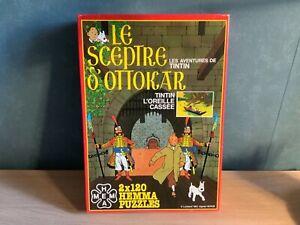 Puzzle-Tintin-Hema-Tintin-Le-sceptre-d-Ottokar-Tintin-L-oreille-cassee-1983