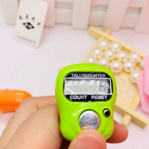 random Digit Digital Lcd Electronic Finger Hand Ring Knit Row Tally Counter B$CA