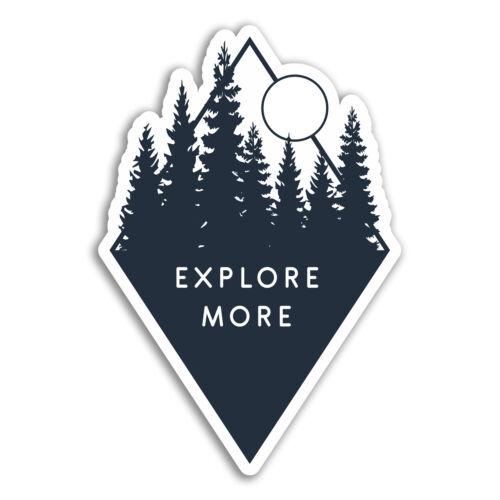 Forest Mountain Moon Fun Sticker Laptop #17836 2 x 10cm Explore Vinyl Stickers