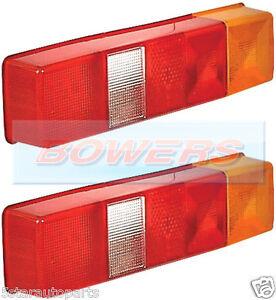 2x-LDV-FORD-TRANSIT-TIPPER-LUTON-FLATBED-BOX-VAN-TRUCK-REAR-TAIL-LAMP-LIGHT-LENS