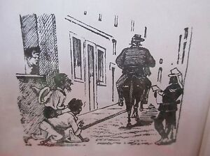 Jose-Guadalupe-Posada-Mexican-Street-Scene-Original-Etching-Framed-Behind-Glass