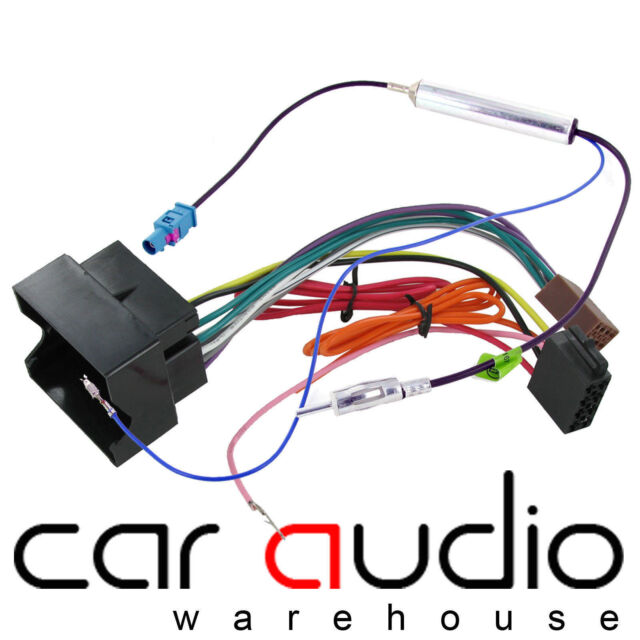 VW Caddy radio stereo wiring harness adapter lead loom ISO converter connector