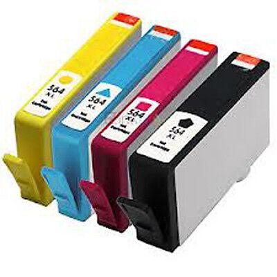 4x HP 564XL Reman Ink Cartridges for HP Photosmart 3070/5510/5520/6510/6520/7510
