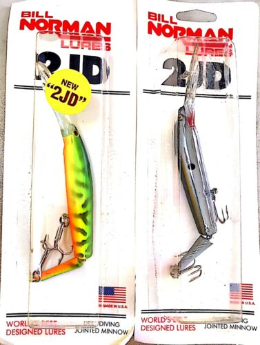"""Vintage Bill Norman Lures Deep Diving 6/"""" Jointed Minnow Lure One Package"""