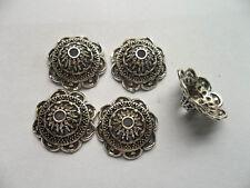 25pcs beautiful Tibet silver Flower End Beads Caps 7x19mm