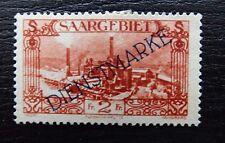 Saar / Sarre / Saargebiet Dienst 21 * , Freimarken