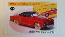 Dinky Toys Atlas - Fascicule SEUL de la Volkswagen Karmann-Ghia (Booklet only)