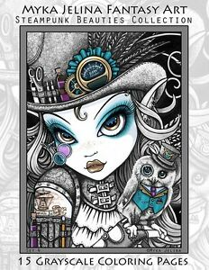 image is loading myka jelina art coloring pages steampunk beauties fairy