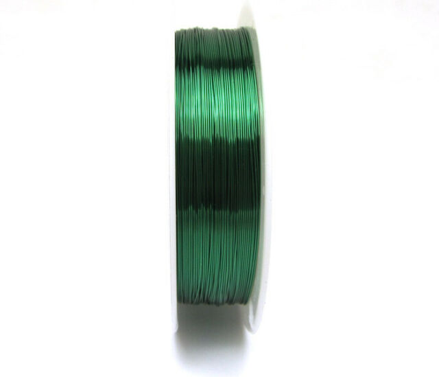 NEW 18M(1roll)  Green  copper wire craft wire Beaded line wrap jewelry