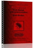International Harvester Grain Binder Parts Manual (ih-p-gr Binder)