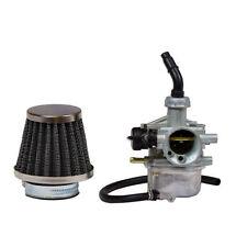 PZ-19 Carburetor 19mm Left Manual Choke & Air Filter 50cc-110cc Dirt bike, ATV