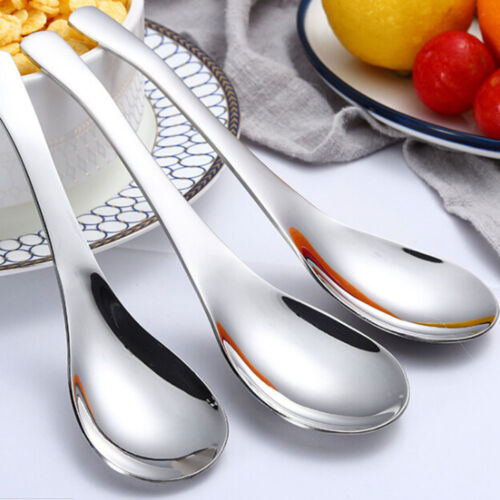 304 Stainless Steel Soup Spoon Deepen Thickened Large Capacity Spoon Tableware