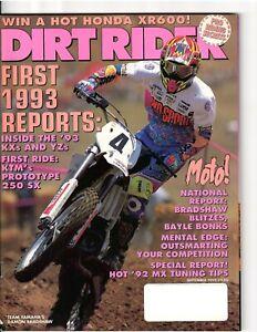 Vintage Magazine Dirt Rider September 1992 Motocross Supercross Guy Cooper