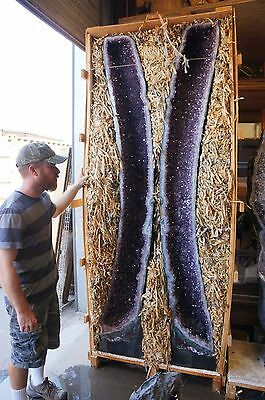 VERY RARE PAIR OF 92 INCH  AMETHYST CATHEDRALS   HUGE SELECTION TO CHOOSE FROM