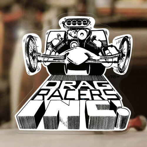 Ed Roth dragracers Pegatina Sticker dragracing Hot Rod Kustom Kulture Consejo Fink