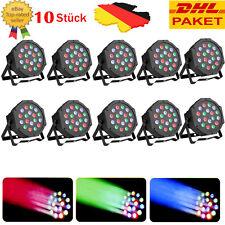 10X 18W Lichteffekt LED RGB DMX 512 Disco kugel Disco DJ Strahler PAR Showlaser