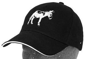 Gorra-De-Beisbol-Negro-amigo-los-animales-Fan-con-PALO-BURRO-69734