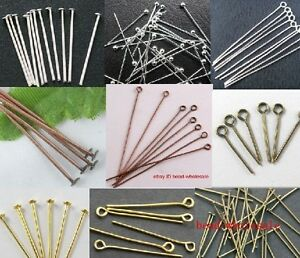 100Pcs Silver//Golden Head Eye Ball Style Pin Jewelry Finding