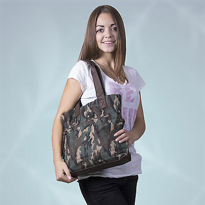 Cooler Shopper Jeans/army Mimetico Tasca Jeans Denim Bag Top A Blue Jeans-mostra Il Titolo Originale Garanzia Al 100%