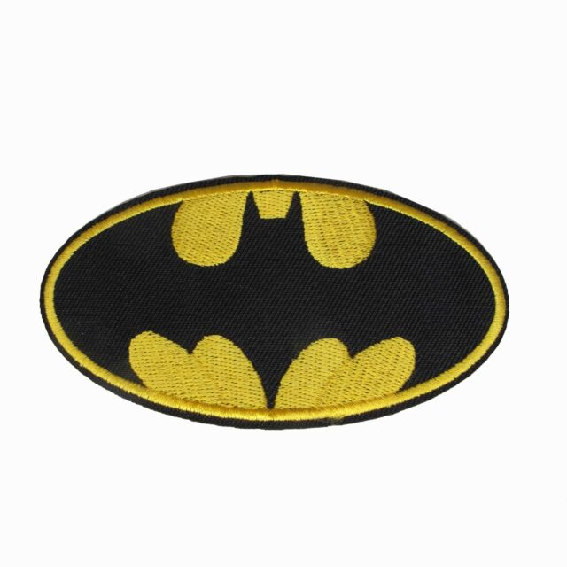 "#6105 4/"" BATMAN LOGO,DC COMICS Embroidery Iron On Applique Patch"