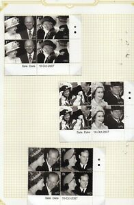 GB-2007-Diamond-Wedding-blocks-of-4-2-sets-with-Traffic-Light-dots-MNH