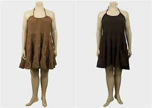 Ladies-Cord-Dress-Plus-Size-womens-corduroy-tiered-cotton-loose-fit-tie-up-neck