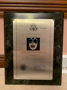 Gene-Simmons-Trademark-Plaque-Mego-Aucoin-Stanley-Rare