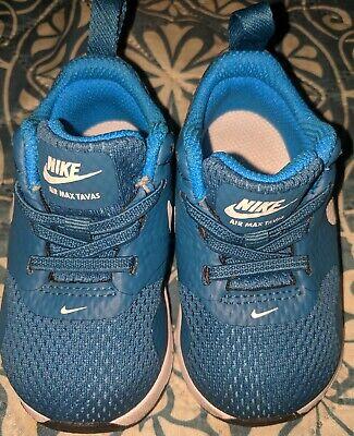 BABY BOYS: Nike Air Max Tavas Shoes, Blue - Size 4C 844106-405   eBay
