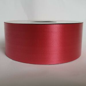 Valentines Red 2inch 50 mm Poly Ribbon For Wedding Florist Gift Craft
