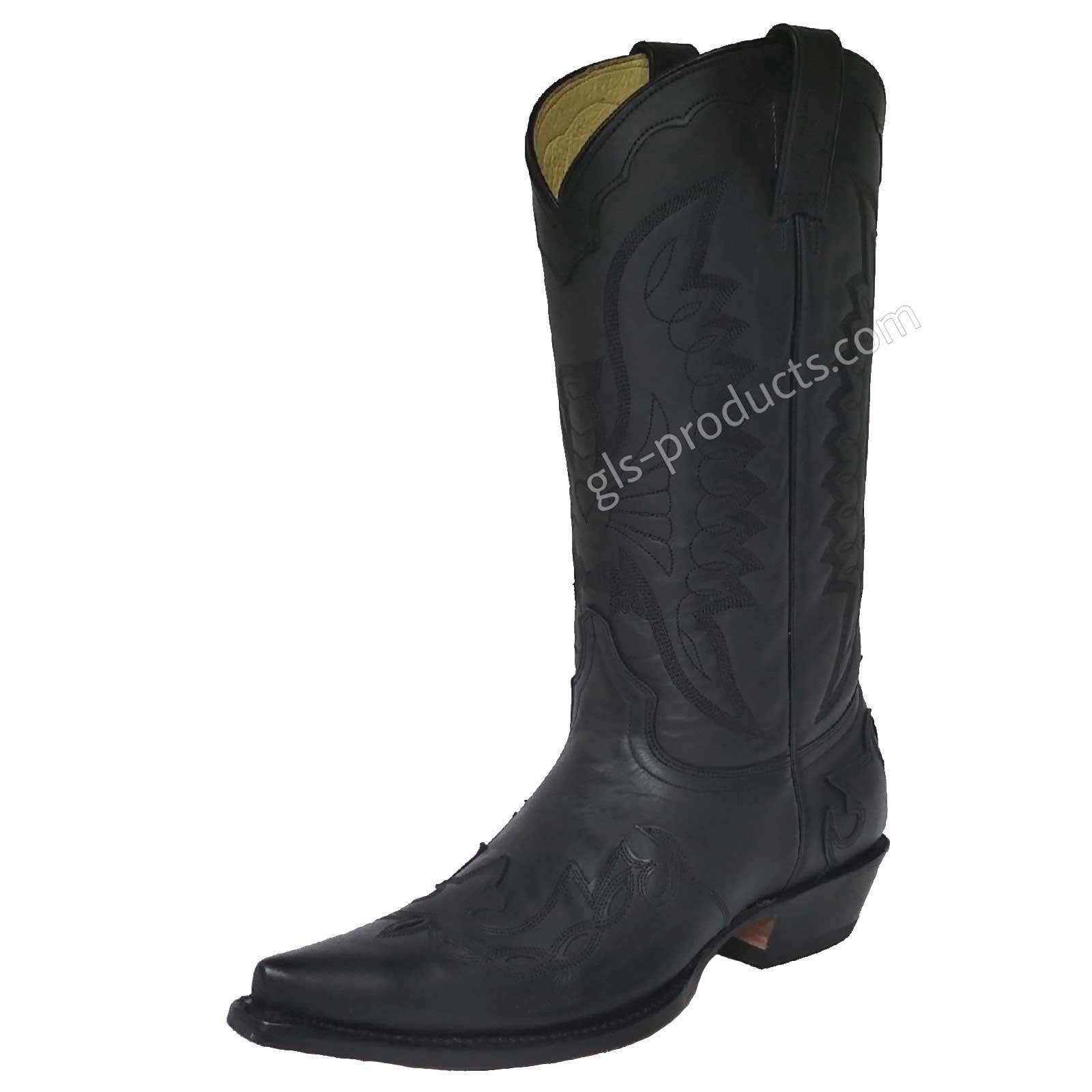 Western Western Western Stiefel Cowboystiefel 5024 Rancho Flammen  schwarz handgenäht Ledersohle a0e600