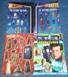 2010  2 POSTERS 12 FRIDGE MAGNETS ADVENTURES MAG DR DOCTOR WHO VIVID