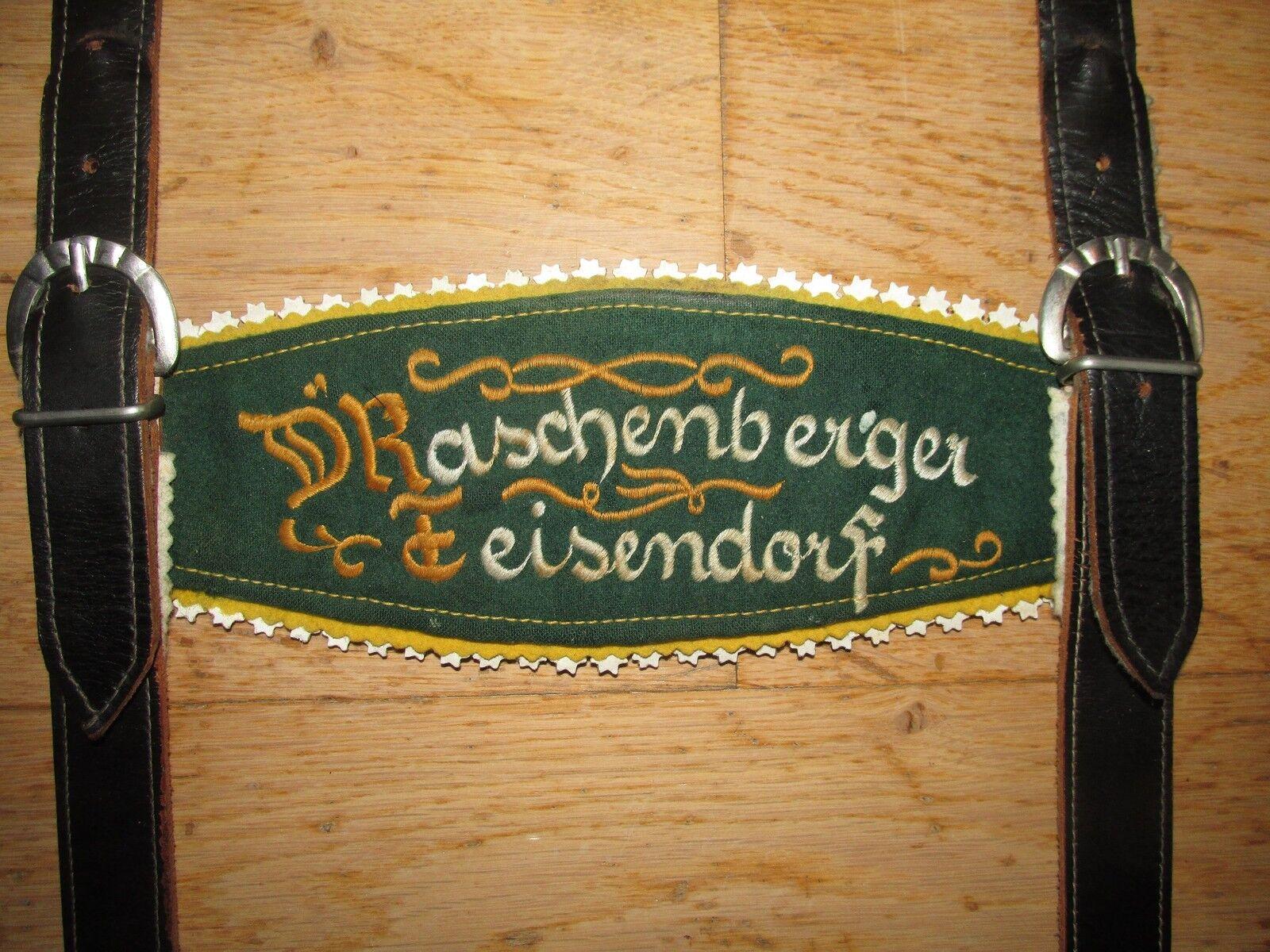 OID &  039;e locura bärige d& 039; raschenberger Teisendorf Echt Leder lederhosen-portador     descuento de ventas