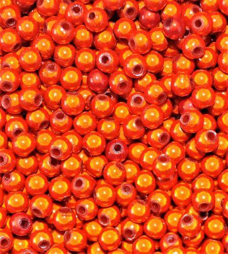 6 8 redondo Abalorios acrílicos milagro las opciones para el tamaño de 4 10 12 mm Naranja