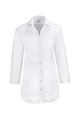 Damenmode Greiff Damen Bluse Service Premium Regular Fit Modell 6520 Weiß Gr 46 Neu