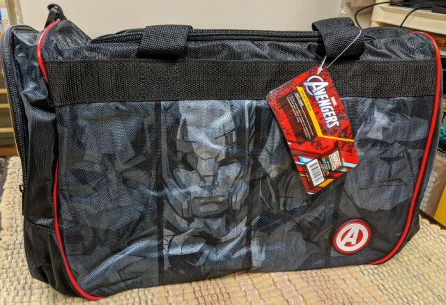 Black//Red Marvel Avengers Sports Duffel Bag