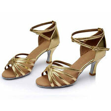 Women Girl lady's Ballroom Tango Latin Dance Dancing Shoes heeled Salsa 11 Color
