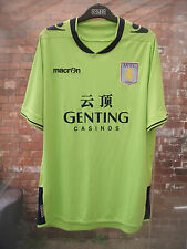 ASTON VILLA FC GENTING CASINOS MACRON LIME & BLUE FOOTBALL SHIRT SIZE L or XL??