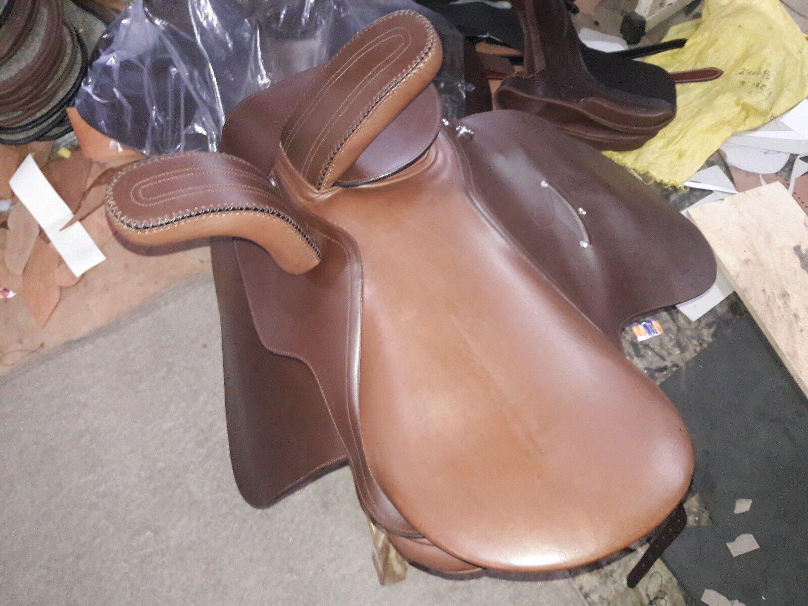 21'' brown leather english side saddle