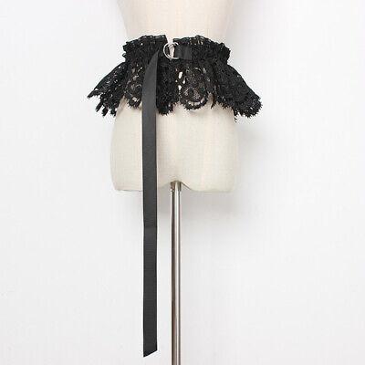Women Bowknot Waistband Lace Waist Belt Corset Wide Elastic Lolita Retro