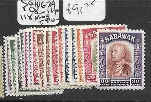 SARAWAK (PP2803B) SG 106-7A, 108-116, 118 MOG