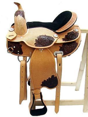 Baumloser Western sillín michigan eco de cuero de búfalo con velcro almohada