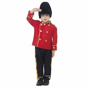 Boys-Busby-Guard-Fancy-Dress-Costume-Royal-Soldier-Uniform-London-Child-Outfit