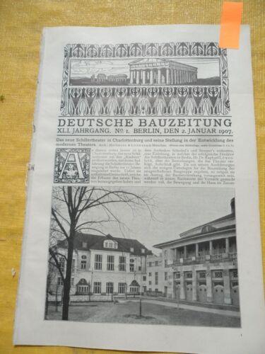 1907 Berlin Schillertheater Theater Charlottenburg