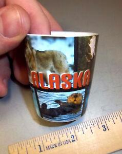 Alaska-Wildlife-Photos-on-Shotglass-beautiful-Animal-Photo-Collage-Shot-glass