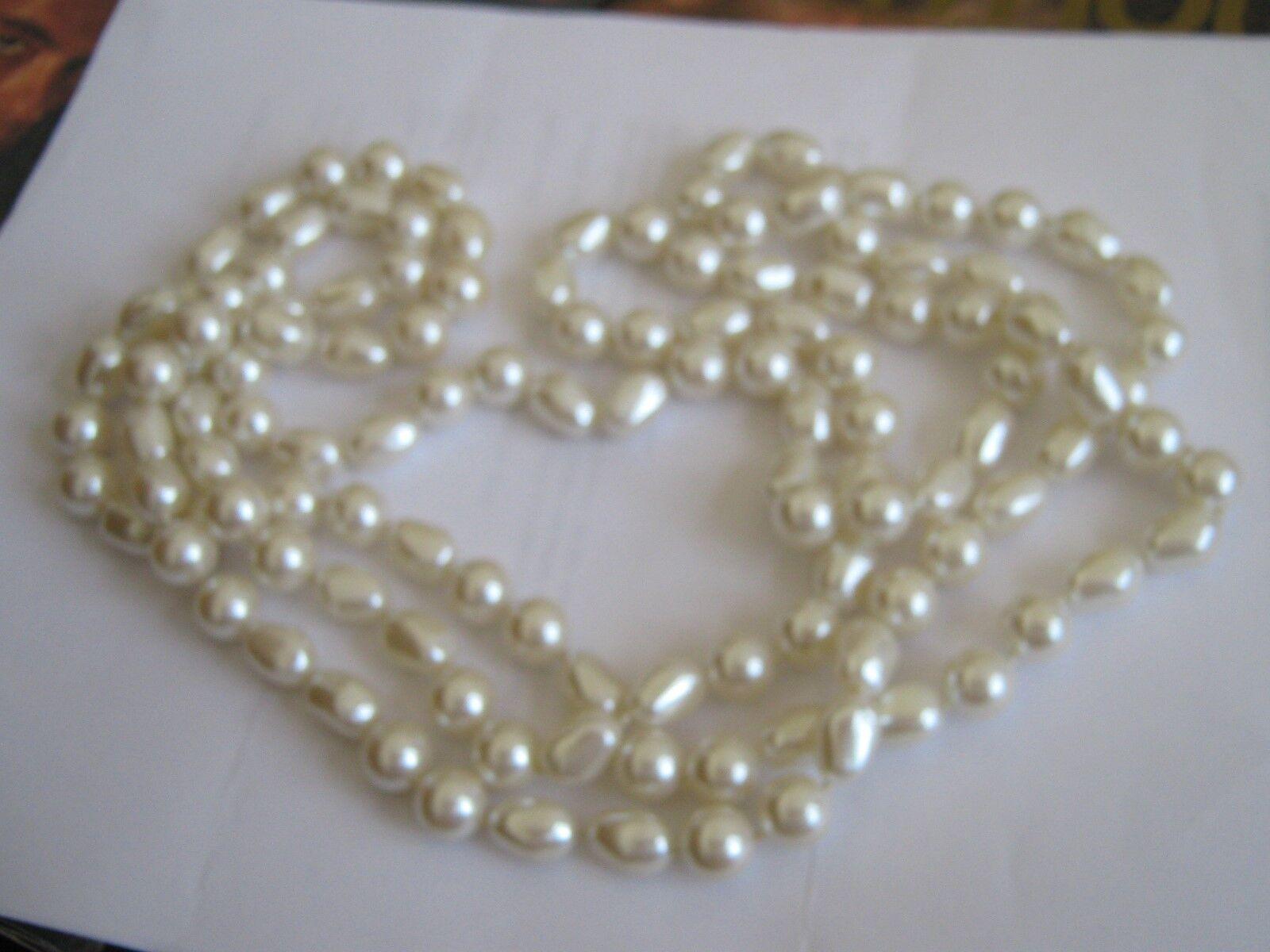 "72"" Large Pearl Necklace , Vintage"