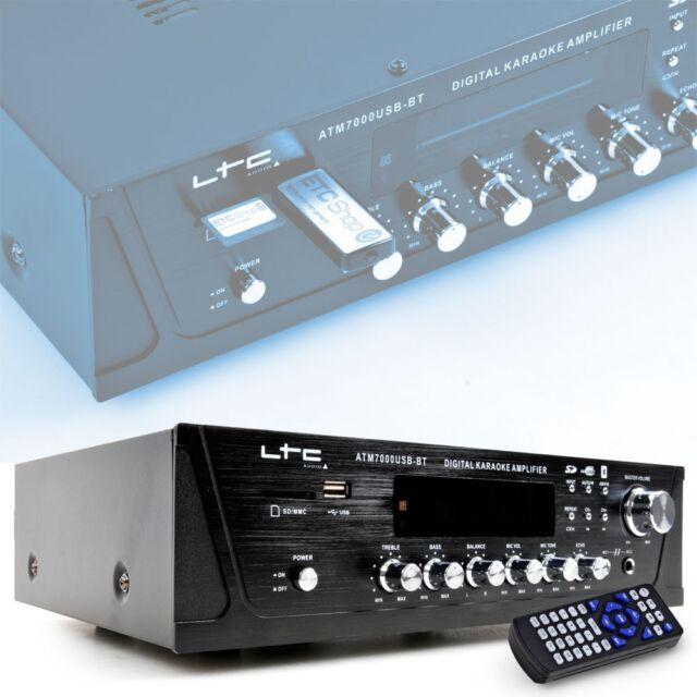 Système de musique amplificateur karaoké Hi-fi Bluetooth SD USB DJ équipement