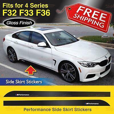 M PERFORMANCE Stickers 4 Autocollants BMW Adhésif Portière Porte Voiture