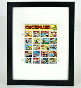 Comic-Strip-Classics-Commemorative-Postage-Stamps-Scott-3000-Matted-and-Framed