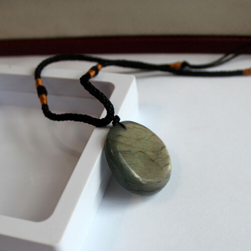New Natural Labradorite Pendant Crystal Necklace Healing Stone Necklace Charm